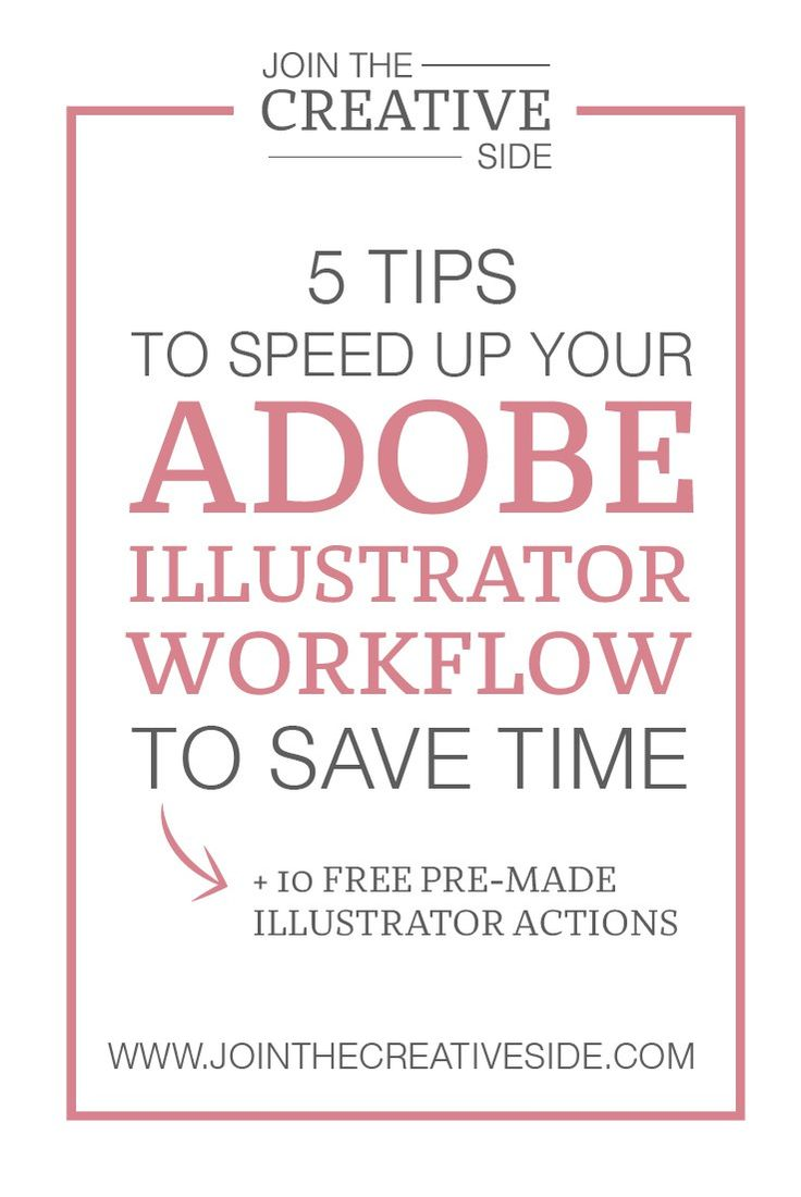 Join The Creative Side | 5 adobe illustrator tips to speed up your workflow | My nr. 1 strategy as an entrepreneur is that I always learn myself to work smarter, not harder. I do that with everything. For example Re-using webinars as video training, complete some tasks in bulk and I always try to speed up my workflow with Graphic Design software, because time is money as you already know! So today I would like to teach you how you can speed up your workflow with one of my favorite software…