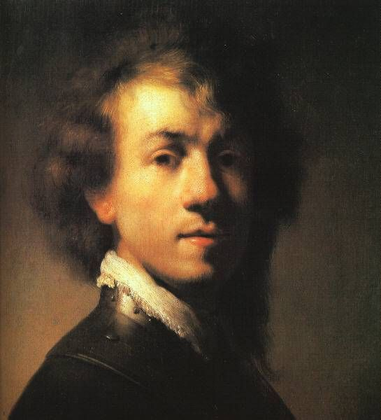 Rembrandt - Self Portrait   1629 (30 Kb); Oil on canvas; The Mauritshuis, The Hague