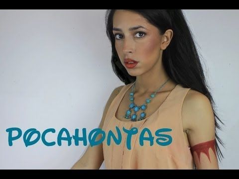 Makeup tutorial! I'm going to do this sometime over the summer! ▶ If Disney Princesses Were Real: Pocahontas. - YouTube