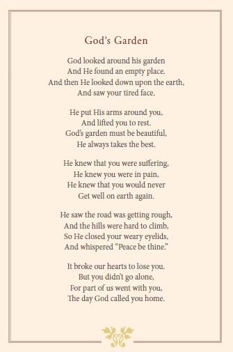 God's Garden. ~ my new favorite poem   Speaks to me ...