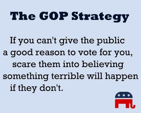 The GOP Strategy.  #republicans