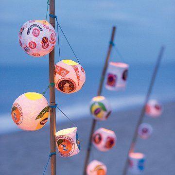 Des lampions en papiers d'emballage / Paper lanterns wrapping papers