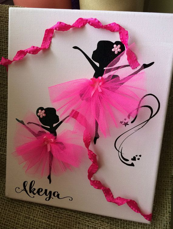 Ballerina On Canvas by MySammyIAmmy on Etsy