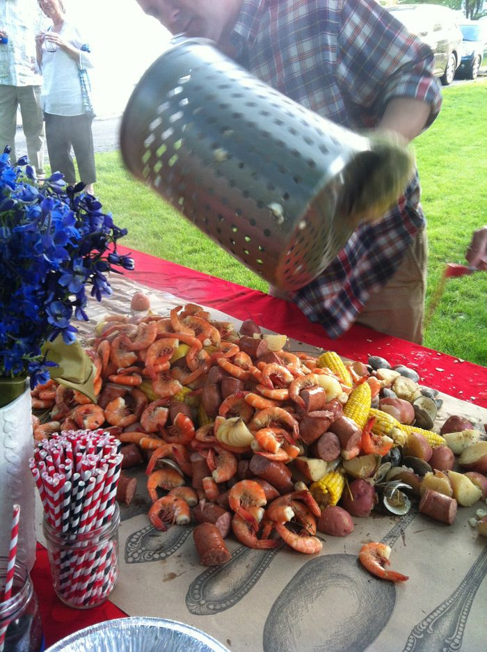 Shrimp Boil 101. Brian's birthday?!
