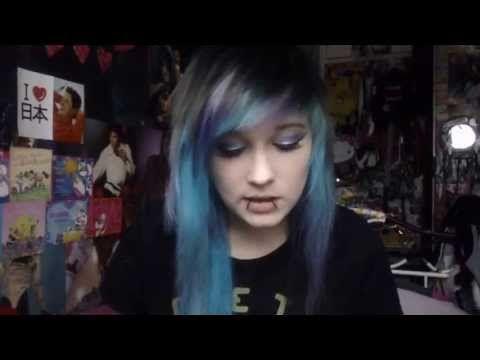 Scene hair bang and fringe cutting and styling tutorial!  How I got my fringe/bangs like this.