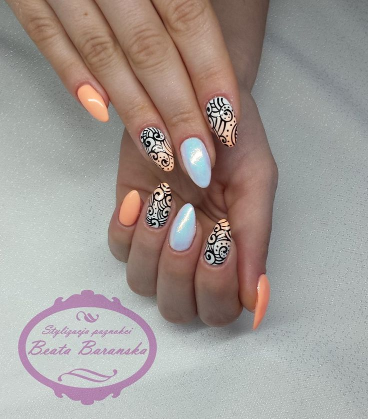 by Beata Barańska :) Follow us on Pinterest. Find more inspiration at www.indigo-nails.com #nailart #nails #indigo #syrenka #mermaid