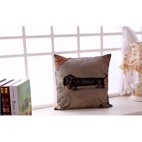 Luxury Design Dachshund droopy eye throw pillow (Fabric)