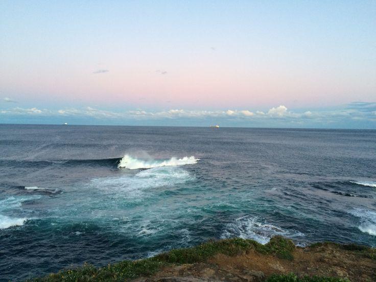 #wollongong #ocean #sunset #blues