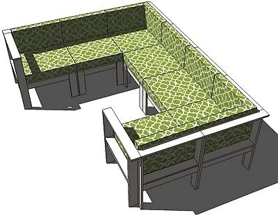 Outdoor Sectional from Ana-White that I will be building for my patio......one day.