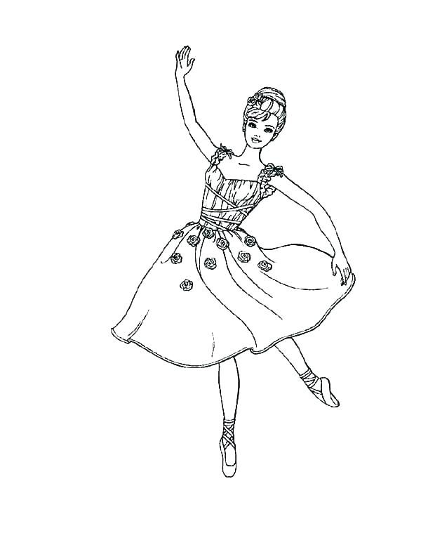 Barbie Ballerina Coloring Pages Coloringpages