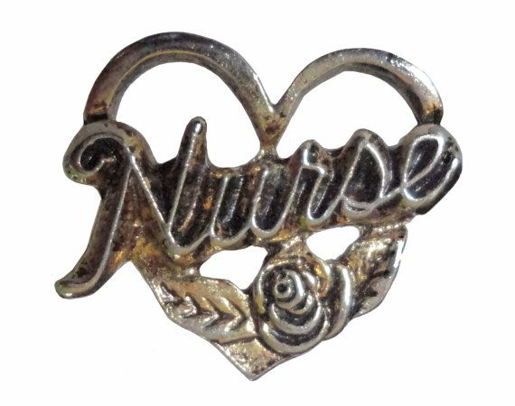 """NURSE vintage pinback pin badge heart rose by VintageTrafficUSA  11.00 USD  A vintage Nurse pin! Old but excellent condition. Measures: approx 1"""" Have some individuality = some flair! -------------------------------------------- SECOND ITEM SHIPS FREE IN USA!!! LOW SHIPPING OUTSIDE USA!! VISIT MY STORE FOR MORE ITEMS!!! http://ift.tt/1PTGYrG FOLLOW ME ON FACEBOOK FOR SALE CODES AND UPDATES! http://ift.tt/1P57awb OR FOLLOW ME ON TWITTER! https://twitter.com/VinTrafficUSA THANK YOU! VIN and…"""