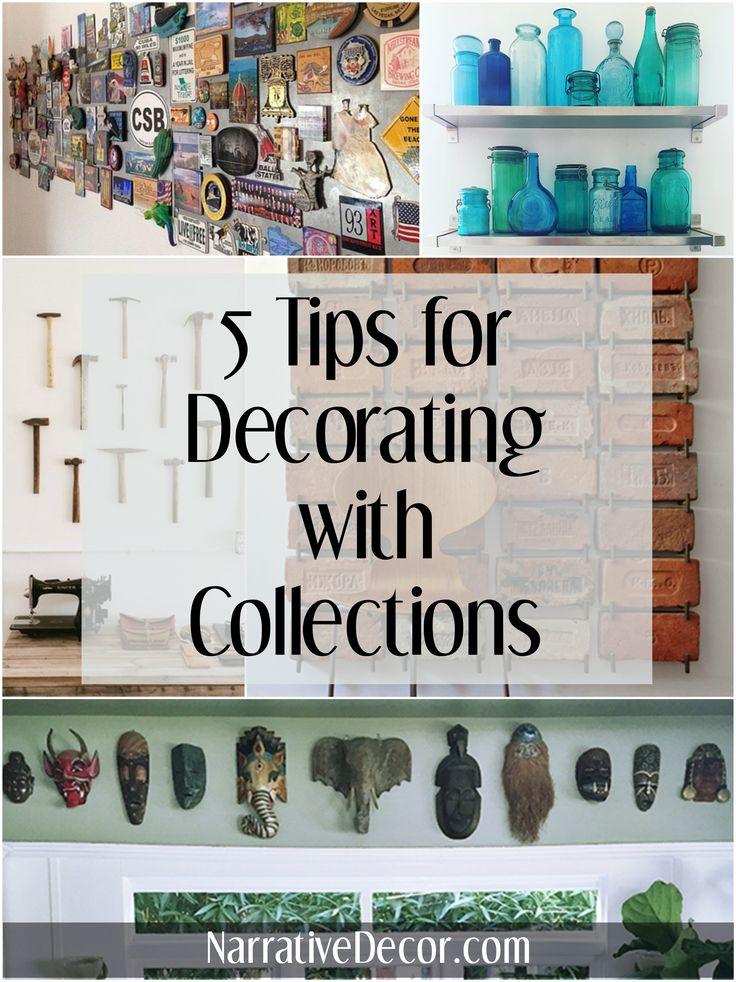 5 tips for decorating with collections