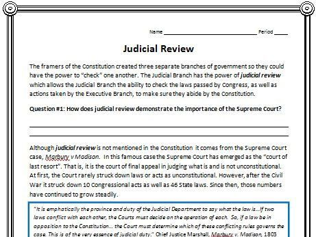 the origin and concept of the judicial review Judicial review is a fundamental facet of constitutional government in the united states of america invented by americans during the founding of the united states, judicial review has spread to most constitutional democracies of the world this digest discusses (1) the concept of judicial review .
