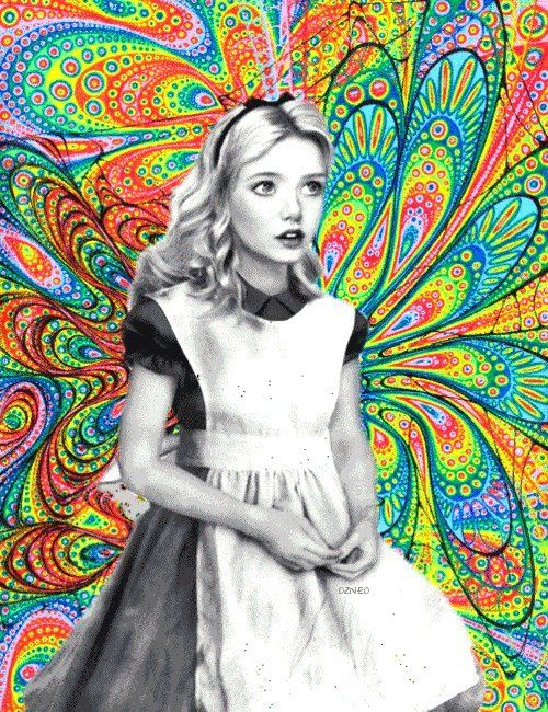 Alice LSD Art #Design #AliceinWonderland #Colors