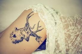 """Résultat de recherche d'images pour """"deer tattoo girl"""""""