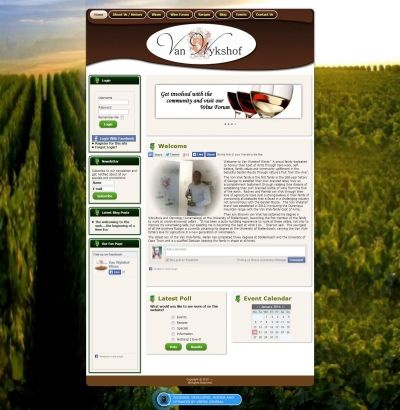 Van Wykshof Wines commissioned Vertex Central to create a visually appealing site with a large community aspect attached to it. Allowing visitors to interact, share, post and comment, the Van Wykshof Wines website perfectly matches its requirements. #CMS #Joomla #webdesign #wine