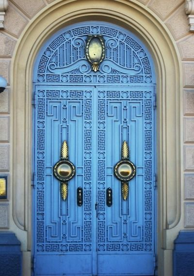 Blue door - Alexandria, Egypt