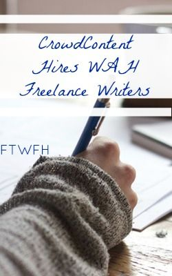 Learn How You Can Work At Home As A Freelance Writer For Crowd Content!