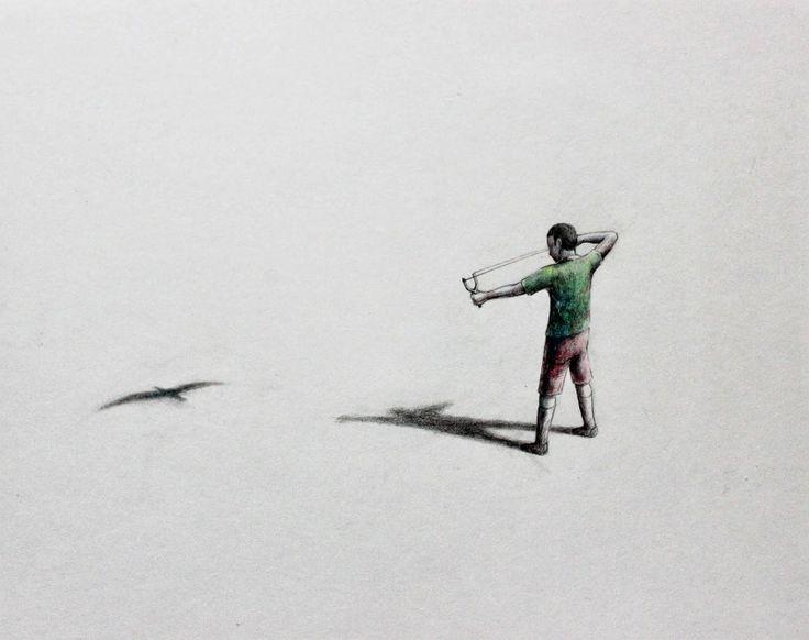 PEJAC. #pejac http://www.widewalls.ch/artist/pejac/ #urban_art #street_art
