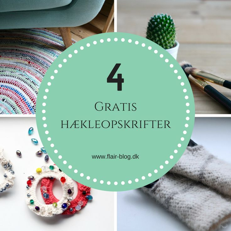 Have you just started crochet or would you like to start? Then I have collected 4 free crochet scripts for beginners. They are easy and understandable to get started with.  All beginnings are difficult, and when you're a beginner, it might be good to start with small manageable projects that you can see an end shortly. Therefore, I have found four free crochet patterns, to you and all the other novices.