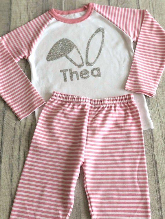 Personalised Princess Name Pjs Kids Pyjamas Childrens Girl Gifts Nightwear