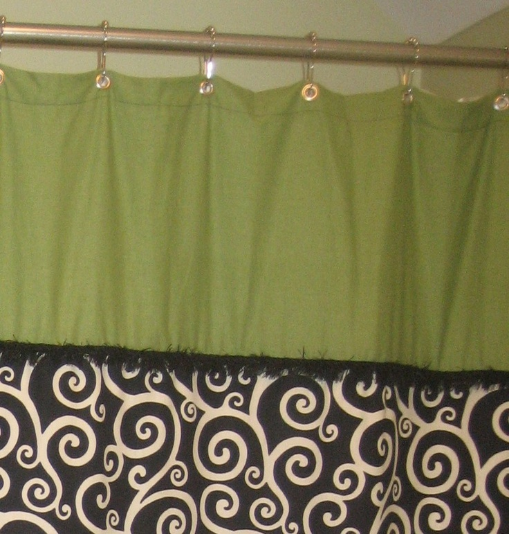 Green Apple Black and Cream Shower Curtain by SassyStitchesGifts   25 00Best 25  Cream shower curtains ideas on Pinterest   Elegant  . Black And Cream Shower Curtain. Home Design Ideas