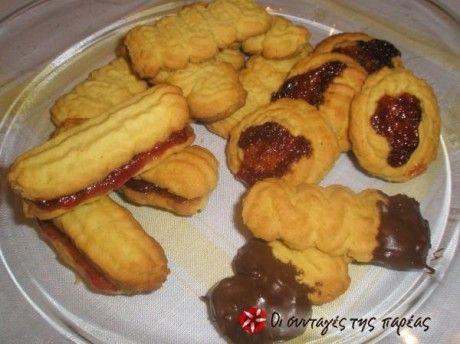 Μπισκότα βουτύρου Παρλιαρου σε 15 λεπτά