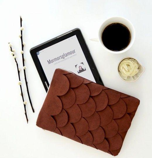 DIY scallop IPAD case by Mormorsglamour