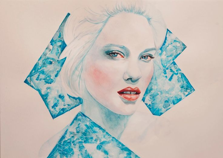 Lea Seydoux Blue is the warmest colour and my favourite colour to watercolour  watercolour portrait