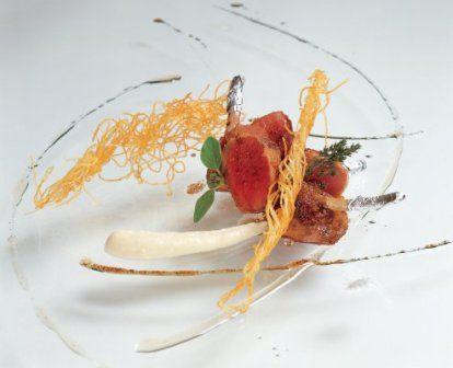 """Chef Massimiliano Alajmo's  """"Agnello alla Lavanda"""" pic only"""