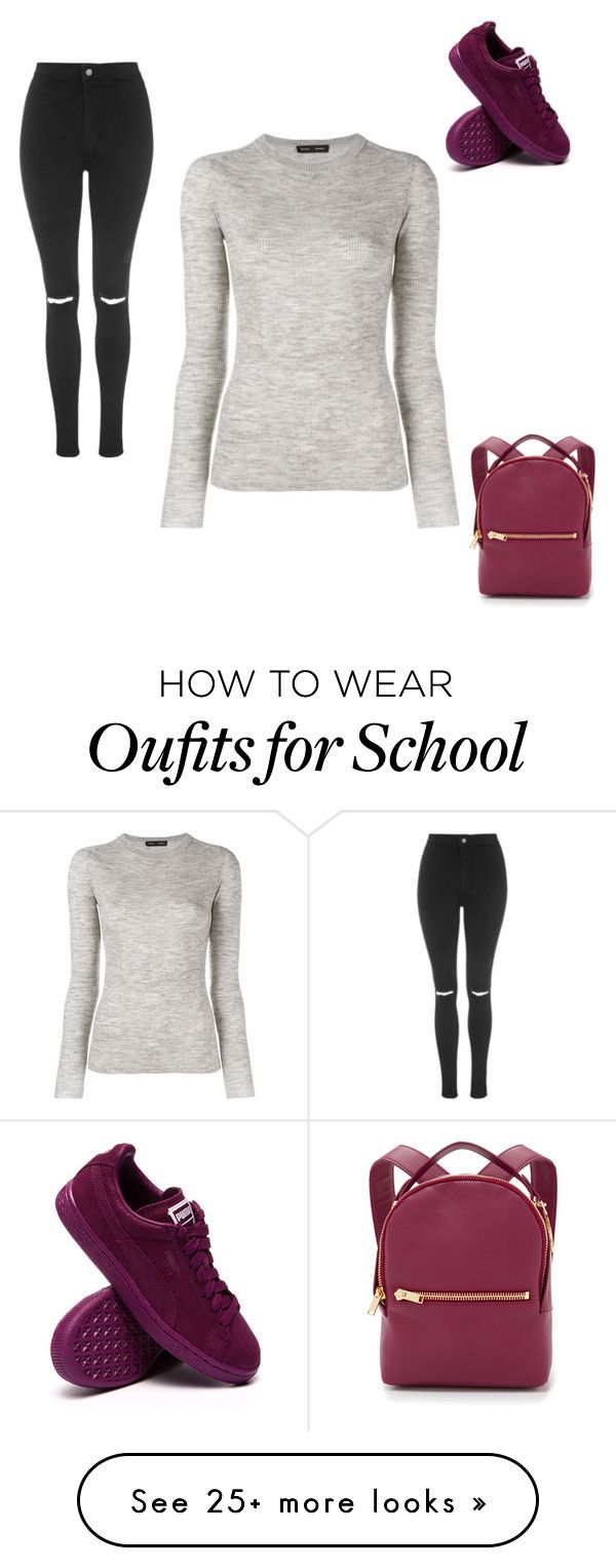 """Back to school outfit!"" by mimica203 on Polyvore featuring mode, Topshop, Proenza Schouler, Sophie Hulme, women's clothing, women, female, woman, misses et juniors"