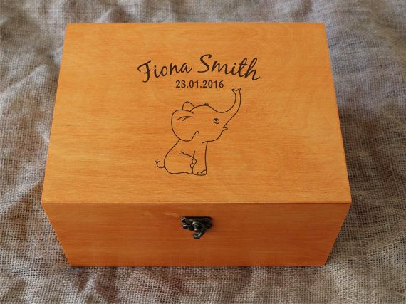 Personalised Baby memory box Baby keepsake by YouCanMAKEitPERSONAL