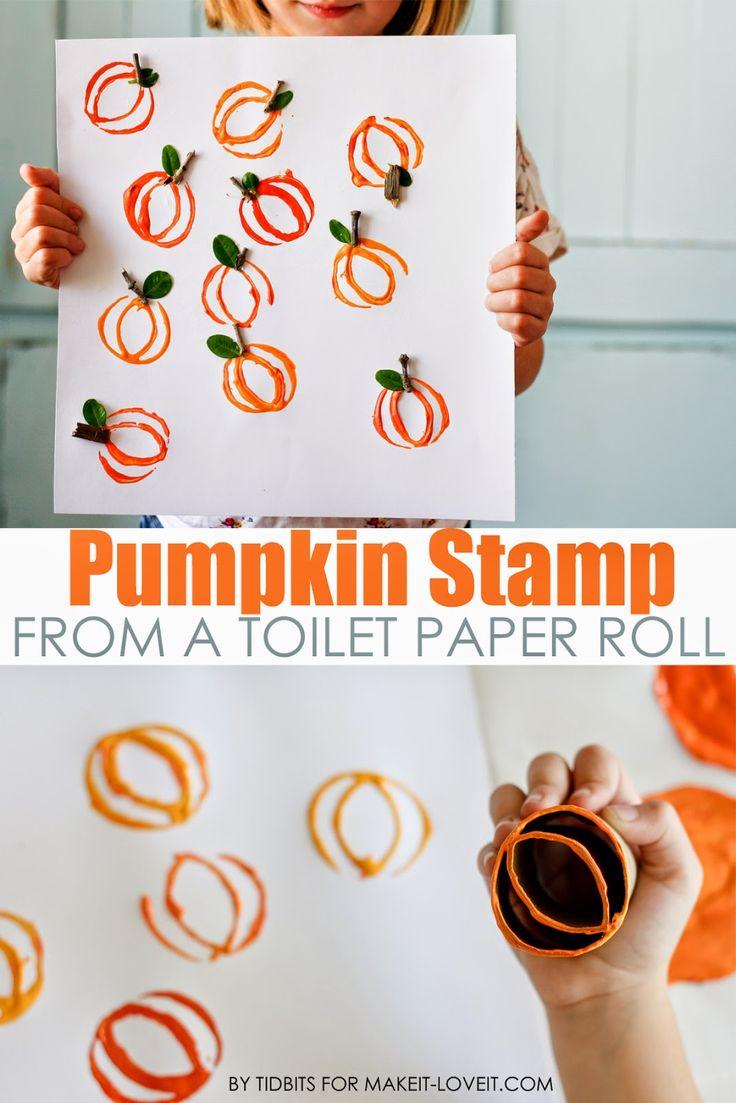 Pumpkin Stamp Art.