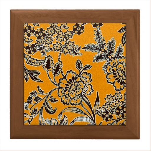 Golden Blossom Large Ceramic Tile + tileholder by Vikki Salmela, #new #English #garden #floral #flower #design in #golden #yellow and #black for a #contemporary #home #decor #ceramic #tile #framed for #hot #food #trivets, #decorative display or special #gift for #wedding or house warming. Coordinates with serving tray and other products.