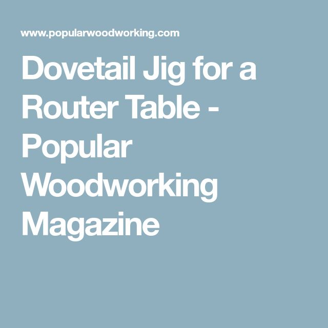 how to use rockler dovetail jig