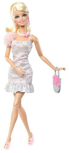 White with a tinge of Pink - Blonde Barbie Amazon.com: Barbie Fashionistas - Barbie Doll