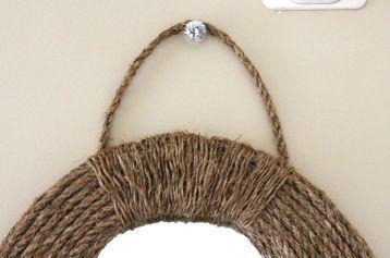 diy nautical rope mirror, crafts, home decor