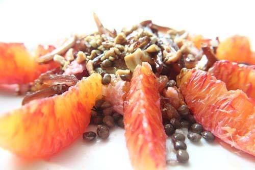 Blutorangen-Linsensalat Rezept eingesendet von: Anna-Maria von Kentzinsky  #Veggie #Orangen