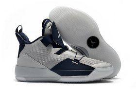 22b4df0ae8c0f6 Air Jordan 33 Wolf Grey Blue Sneakers Men s Basketball Shoes