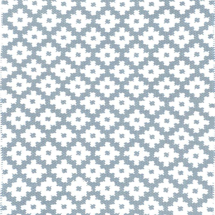 Dash & Albert - Samode Teppich - Hellblau/Elfenbein - 91x152cm