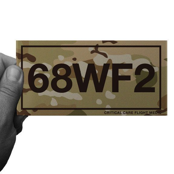 MULTICAM ARMY MOS 68WF2 CRITICAL CARE FLIGHT MEDIC Vinyl Decal by Inkfidel #army #usmc #navy #coastguard #airforce #veteran #military #cardecal