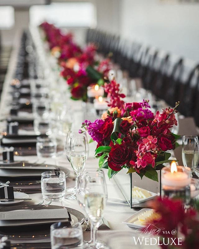 Ideas about long table centerpieces on pinterest