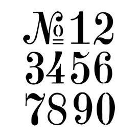 number stencil font