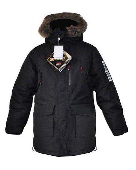 Long Sleeve Zipper Pockets Men Waterproof Down Jacket  Price: $153.76 USD