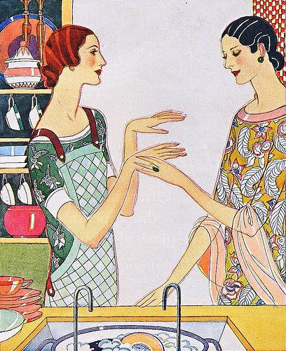 """But, Madge, how do your hands stay so beautiful?"" Lux ad, 1925"