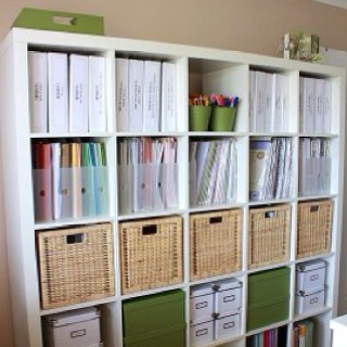 Expedit + Cropper Hopper Paper Storage