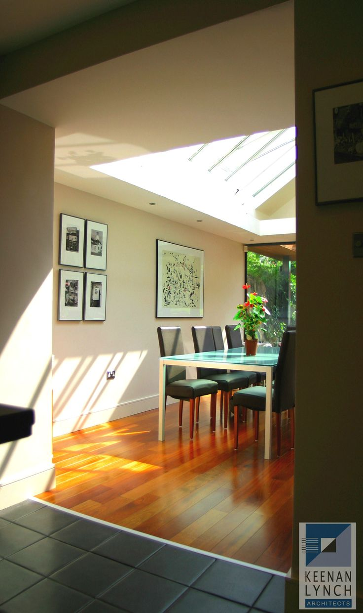 Let the sun shine in. info@kla.ie  When you're tight on space there's nothing like a glass roof. Keenan Lynch Architects find creative solutions to flood homes with natural light.