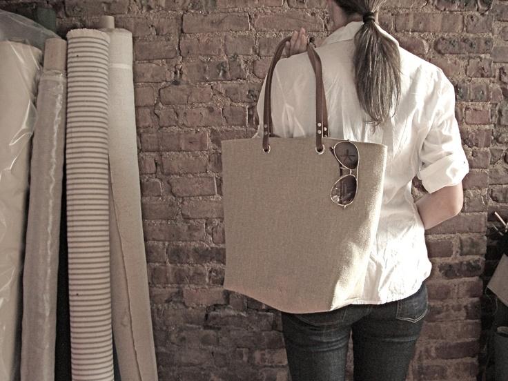 Woven Tote Bag, Linen Tote, Jute Tote, Beach Bag, Casual, Simple Tote Bag for Women. $142.00, via Etsy.