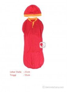 Bedong Bayi Instan Cuddle Me 2 in 1 Hybrid Swaddlepod With Cap (Merah, Garis Oranye Muda-Oranye Tua) Rp. 75.000   www.melindacare.com atau hubungi 081321148408 dan Pin 765BEE5E