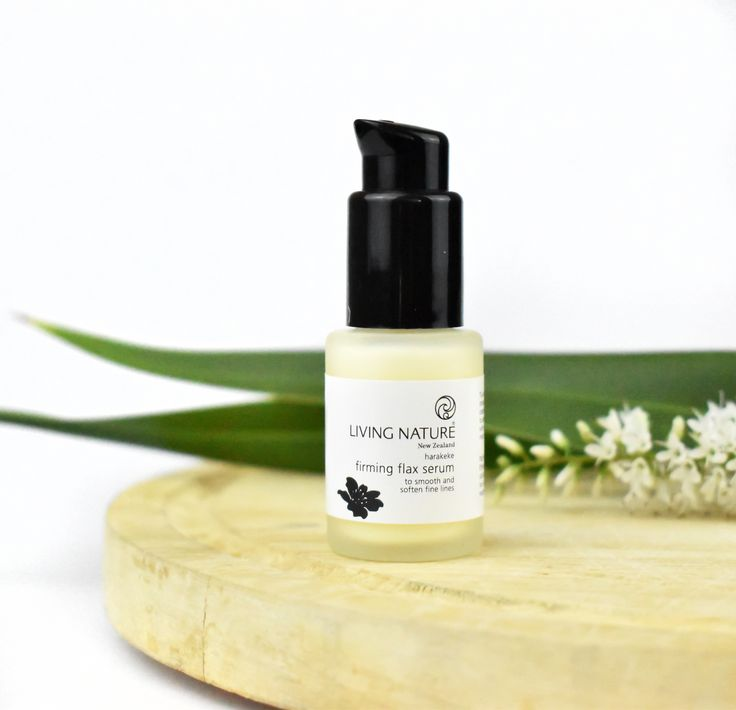 Living Nature Firming Flax serum complements the skin's natural healing process with the restorative power of New Zealand's native Harakeke. Formulated to reduce fine lines and wrinkles, Firming Flax serum will aid your skin in looking smoother and plumper.